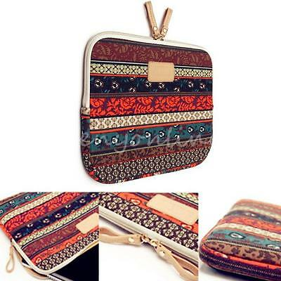 """Bohemian Canvas Laptop Sleeve Case Bag Cover for 15.4"""" 15.6"""" Macbook Notebook"""
