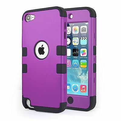 Heavy Duty Shock Proof Case Cover for Apple iPod Touch 6G 5th Generation (Blue)