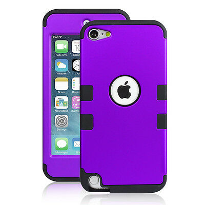Heavy Duty Shock Proof Case Cover for Apple iPod Touch 6G 5th Generation(Purple)