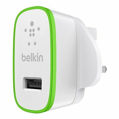 Belkin 2.1 Amp USB AC Wall Charger Universal for iPhone 7 6s 6 Plus Smartphones