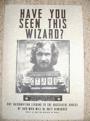 SALE!!! Harry Potter Hogwarts Films Sirius Black Wanted Poster Prop
