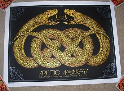 ARCTIC MONKEYS concert gig poster LOS ANGELES 8-7-14 2014 tour SHOW EDITI slater