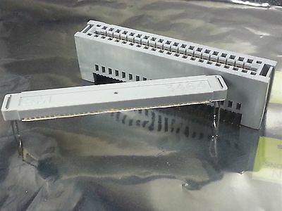 Two 3M PAK-100 40-Contact Pin Card Edge to Flat Cable Connector # 3464-0001