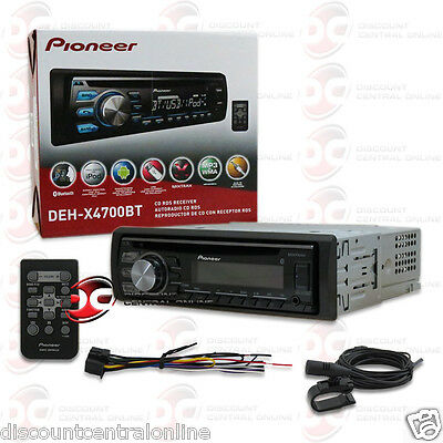 2015 PIONEER 1DIN MP3 WMA CD PLAYER W/ BLUETOOTH PANDORA CONTROL + REMOTE