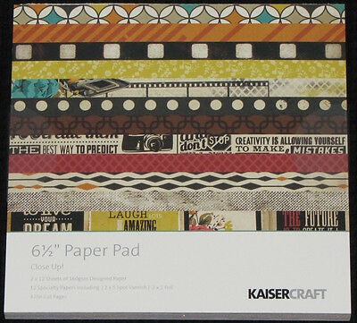 """Kaisercraft 'CLOSE UP!' 6.5"""" Paper Pad KAISER *Deleted 2 LEFT ONLY*"""