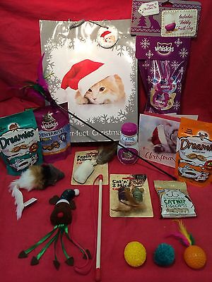Cat Christmas Toys Treat Present Catnip Drop Turkey Dreamies Xmas Whiskas milk