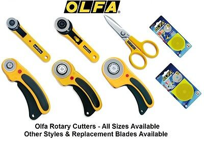 Genuine Olfa Rotary Cutters & Spares - Brand New & Sealed