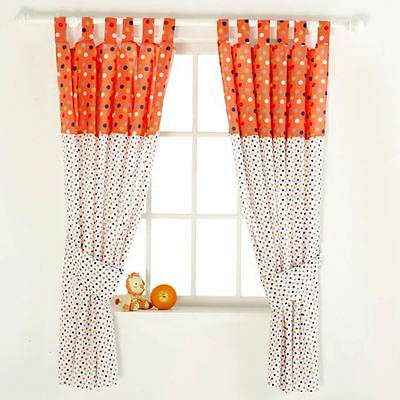 Red Kite Tab Top Curtains & Tie Backs Cotton Tails and Friends Chlidrens Nursery