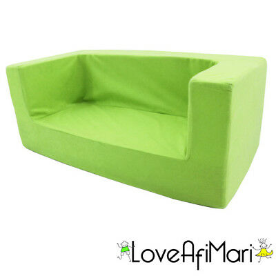 Lime Green Boys Girls Kids Children's Comfy Chair Toddlers Foam Armchair Seat