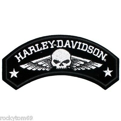 """(1) Harley-Davidson® Military Wings with Willie G Skull Medium 5"""" W x 2 1/4"""" H"""