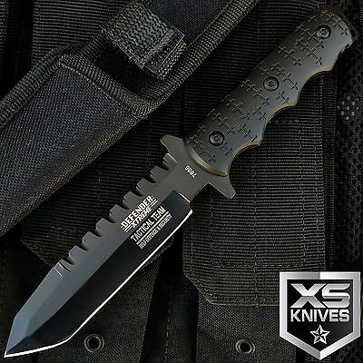 """9"""" Night Ops Tactical SAWBACK Bowie Knife w/SHEATH Military Fixed Blade Survival"""