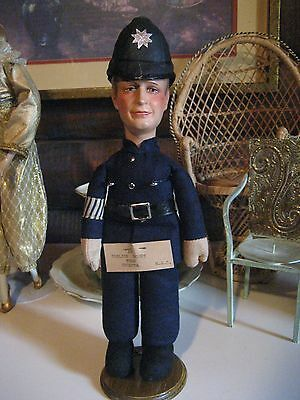 Antique Composition Bermuda English Bobby Police Doll from Germany 1930's