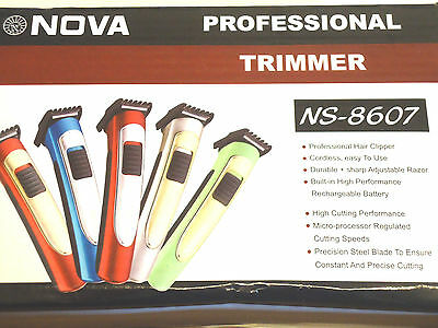 Professional Multi Purpose Hair Trimmer Clipper Rechargable Cordless Brand New