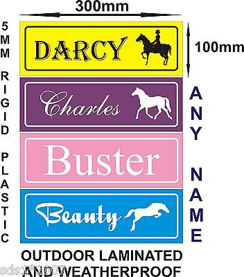 Personalised horse stable name sIgn plate plaque christmas gift idea 30cm x 10cm