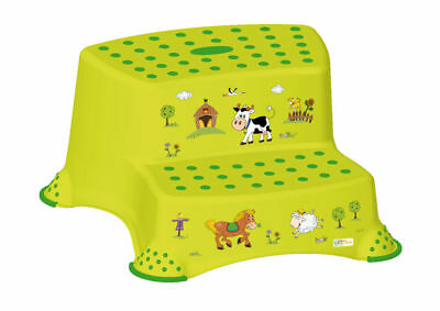 OKT Kids Scaletta due stadi Funny Farm, verde