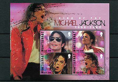 Montserrat 2010 MNH Michael Jackson King of Pop 1958-2009 4v M/S I