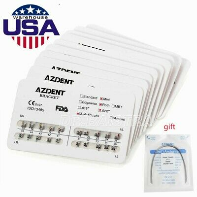 10 Packs Orthodontic Dental Bracket Braces Mini MBT 022 3-4-5 Hooks AZDENT HOT