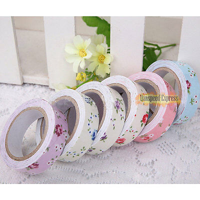15mm Wide Vintage Adhesive Washi Tape Gift Album 4m DIY Decor Craft Sticky Paper