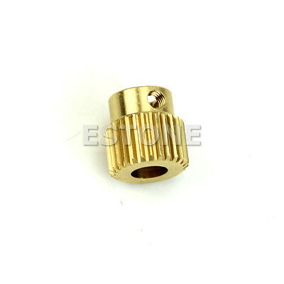 26T MK8 Printer Copper 26tooth Gear 11mm x 11mm For DIY New 3D Printer Extruder