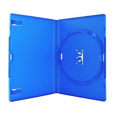 10 Single Standard Blue DVD Case 14 mm Spine New Empty Replacement Amaray Cover