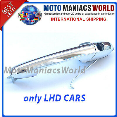 FIAT 500 2007- Chrome FRONT Door Handle LEFT Drivers Side - fits ONLY LHD CARS