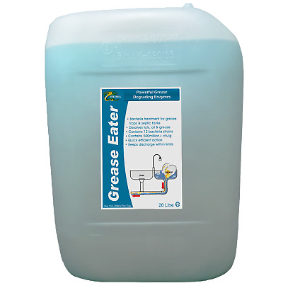 HYDRA GREASE EATER LIQUID 20L Drum Enzyme Bacteria Grease Fat Treatment