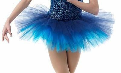 MIDNIGHT Ballet Short Tutu Costume Dance Navy Turq. Tulle Mix N Match CXS-AL