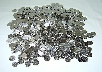 500 STAINLESS NON-MAGNETIC SKILL SLOT MACHINE TOKENS =NEW= PACHISLO HOME/ARCADE