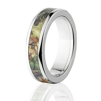 Camo Rings Mens Camo Wedding Bands Licensed Mossy Oak New Break Up