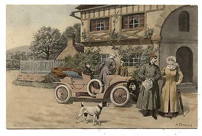 M.m.vienne.m.munk.automobile Motor-Car.chien.dog.couple