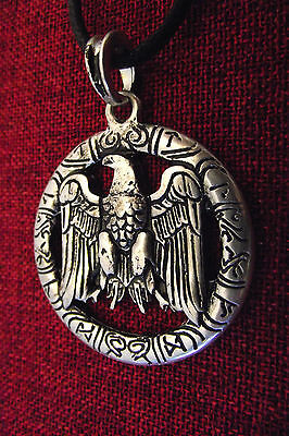Eagle Viking Thor Pendant Odin Norse Warrior SCA Silver Plate Amulet Necklace