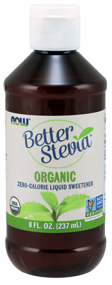 NOW Foods Certified Organic Liquid Stevia Extract 8oz.formerly Non-Bitter 07/19