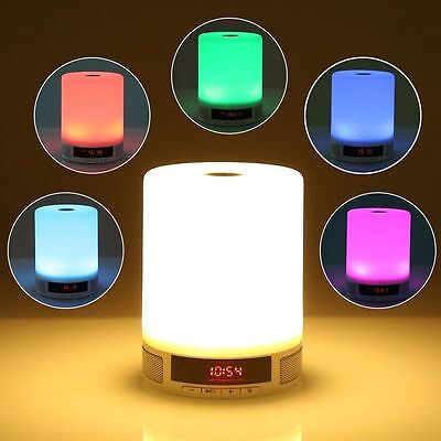 Wireless Bluetooth Speaker Touch Muti Coloured LED Lamp For Samsung / Apple / LG