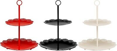 2 Tier Cake Stand Metal Plated Wedding Birthday Cupcake Muffin Party Stand New