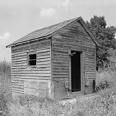 """Old Shed Rustic Wall accent, 16""""x16"""" photo, black and white, vintage decor"""
