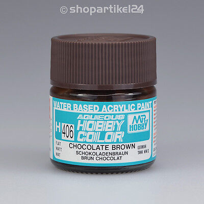 (25€/100ml) AQUEOUS HOBBY COLOR H406 Chocolate Brown Braun (F) Farbe - Mr.Hobby