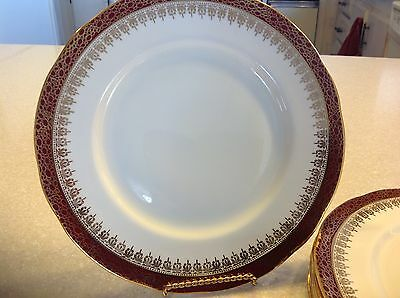 Set Of 6  Fine English Bone China Dinner Plate Stafford Potteries ~New~ 9.5 in