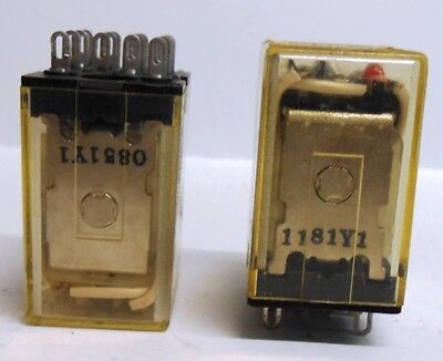 Omron, Relay, Type My4N, 110/120 Vac, Lot Of 2