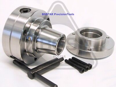 """BOSTAR  5C Collet Chuck Closer With Semi-finished 2-1/4"""" x 8 Thread Back Plate"""