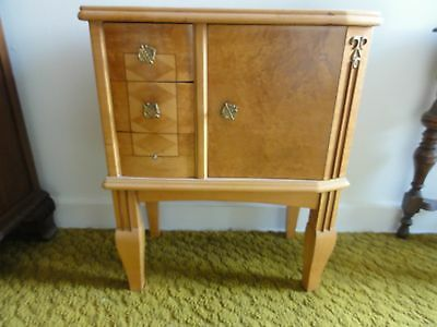Pair Vintage mid century modern Italian maple night stands
