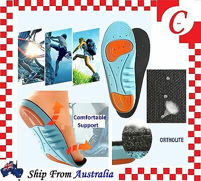 Massaging Gel Pads Shoe Insoles Inserts Arch Support Orthotic Men Women FlatFoot