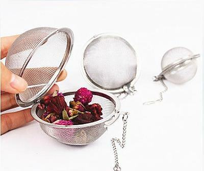 DI CA Stainless Steel Infuser Strainer Mesh Tea Filter Spoon Locking Spice Ball