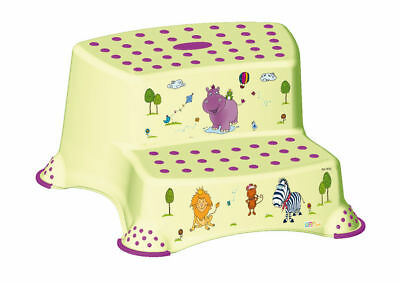 OKT Kids Step stool two stage Hippo green