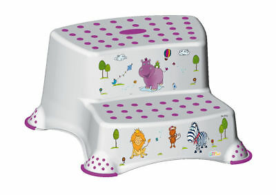 kindertritthocker Two Stage Hippo White Stool Step Stool Stool