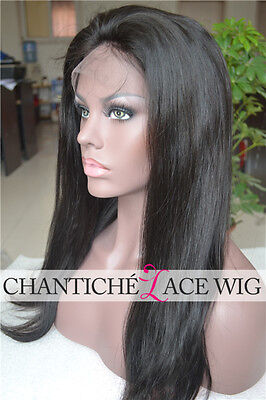 Best Indian Remy Human Hair Lace Front Wigs African Americans Natural Straight