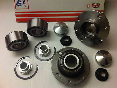 VAUXHALL CORSA D 07-12 1.0 1.2 2x FRONT & 2x REAR WHEEL BEARINGS 4 STUD WHEELS