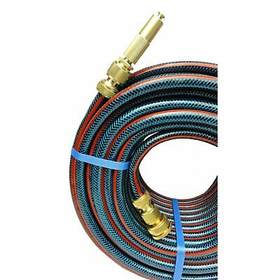 "2 X 50M Flexible Garden 12MM Water Hose 1/2"" Ryset Brass Fittings 8/10 Kink Free"