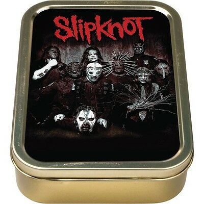 Slipknot Band Picture Metal Cigarette Tobacco Tin Rolling Smoking Paper Box NEW