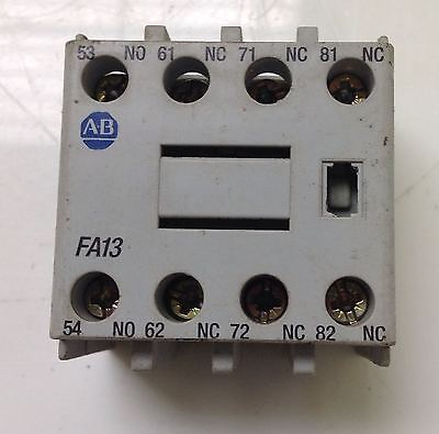 Allen Bradley  10A Auxiliary Contact Ser.a Lot Of 4 100-F Fa13