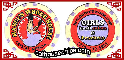 Mabel's Whore House collectible chip * Cream *  Crystal, NV cathouse brothel